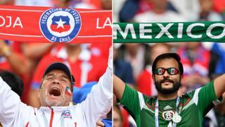 Aficionados de Chile y México