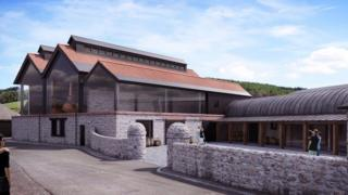 Lindores Abbey Distillery - artists' impression