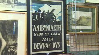 A World War One recruitment poster written in Welsh