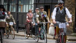 Participants in the Tweed Run