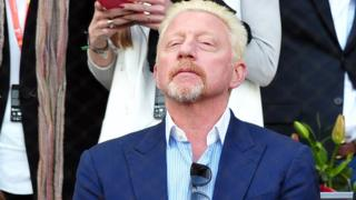 Boris Becker during day nine of the Mutua Madrid Open tennis tournament at the Caja Magica on May 13, 2018 in Madrid, Spain