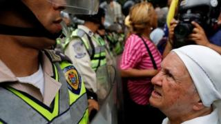 تظاهرات سالخوردگان در کاراکاس