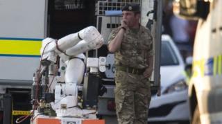หน่วยทำลายระเบิดถูกเรียกมาที่เมืองวีแกนเมื่อวันพฤหัสบดีที่ผ่านมา