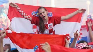 Хорватские болельщики в Загребе