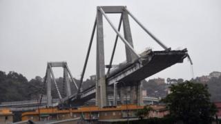 Ponte que caiu na Itália