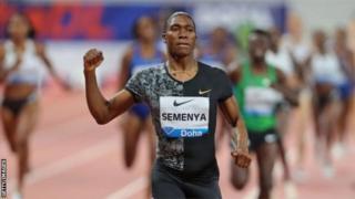 Caster Semenya a battu le record du meeting en 1 min 54 sec 98.