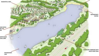 Artist impression of the lake