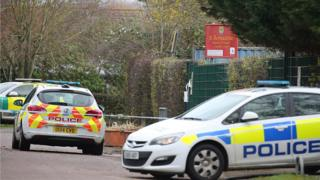 Police cars in Walsingham Way