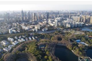 武漢東湖畔城市景觀