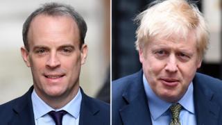 Dominic Raab and Boris Johnson