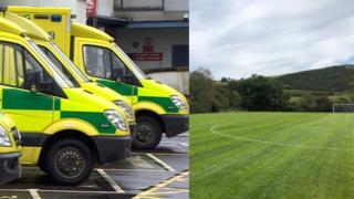 Welsh Ambulances and Bro Cernyw football pitch
