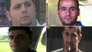 Top left: Huseyin Zerze, right: Huseyin Mayil. Bottom , Left: Ibrahim Mayil, Right: Ozgur Kaplan
