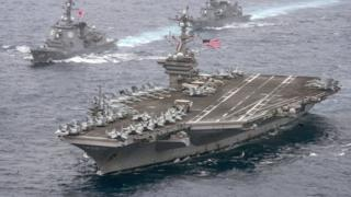 The US aircraft carrier USS Carl Vinson has been sent to waters near North Korea