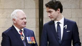 Governor General David Johnston and Prime Minister Justin Trudeau