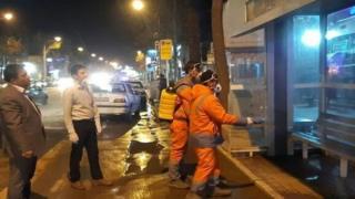 ضدعفونی شدن معابر شهر نیشابور