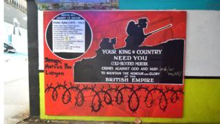 Artwork in the Bearpit, Bristol