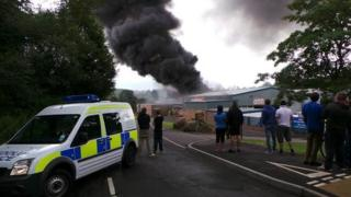 The fire at Brick Fabrications