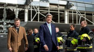 John Kerry in Belgium