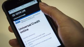 Mobile phone with universal credit
