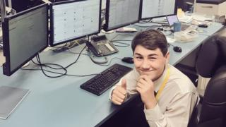 Work experience teen Eddie mans Southern Rail twitter account