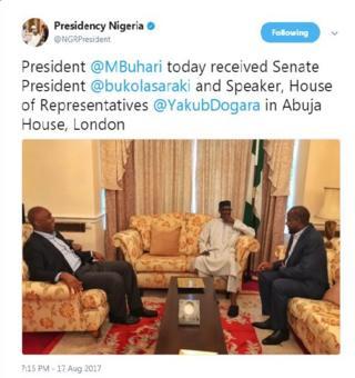 Buhari, Saraki and Dogara