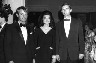 Robert Kennedy with Jackie Kennedy and Joe Tydings