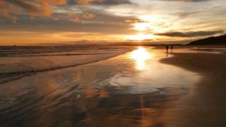 St Cyrus beach, South Aberdeenshire.
