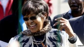 Winnie Madikizela Mandela yari umugore w'umuperezida wa mbere w'umwirabure wa Afrika Yepfo, Nelson Mandela