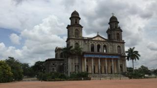La catedral vieja de Managua