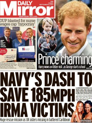 Daily Mirror front page 08/09/14