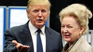 coronavirus stock Donald Trump with his sister Maryanne Trump Barry