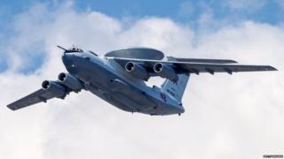 (ਫਾਈਲ ਫੋਟੋ) ਰੂਸੀ ਏ-50 ਏਅਰਕਰਾਫ਼ਟ airborne early warning and control training aircraft
