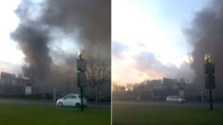 Hampton by Hilton Hotel fire