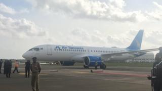 Airbus A220-300: indege nshasha ubutegetsi bwa Tanzaniya bwashikanye mu gihugu