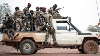 Des miliciens centrafricains