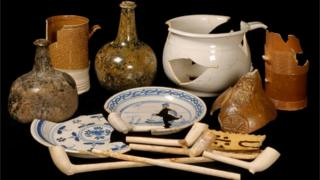 Artefacts from Claphams