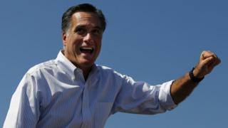 Republican presidential nominee Mitt Romney in Abingdon, Virginia, in October 2012