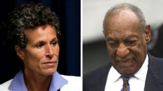 Composite image of Constand and Cosby