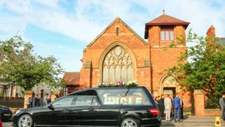 The funeral was held at the Moravian Church on the Oldpark Road in north Belfast