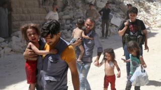 Crianças em Aleppo