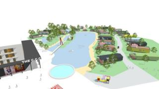 Plans for central area of development