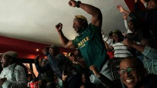 Fans in Cape Town cheer