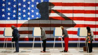 Voting booths in Richmond, Virginia