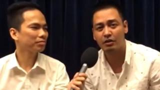 MC Phan Anh (phải) trong một lần trò chuyện với BBC và khán giả của trang Facebook BBC Tiếng Việt