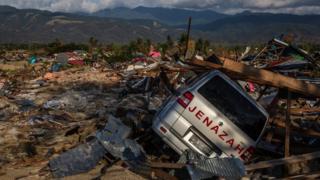 Kawasan gempa di Petobo, Palu