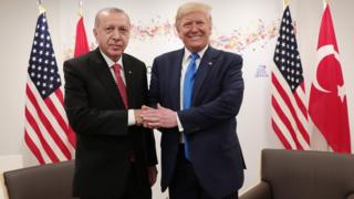 Раджеп Тайип Эрдоган и Дональд Трамп