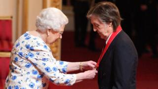 The Queen and Paul McCartney