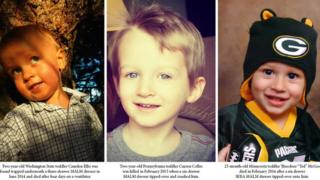 Camden Ellis, Curren Collas and Ted McGee were killed by the falling dressers