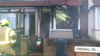 Handsworth Wood arson probe after fire tears through house