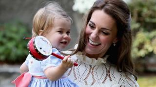 The Duchess of Cambridge with her daughter, Princess Charlotte